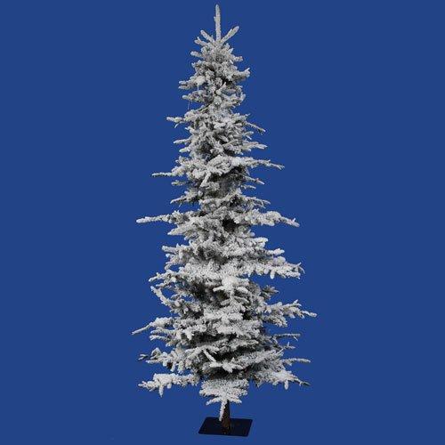 Vickerman 7.5 Foot Flocked Georgian Fir Christmas Tree 1075 Tips