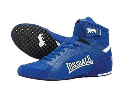 LONSDALE Swift Chaussures de Boxe pour Adulte, Bleu, 46