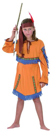Indian Girl. Budget (L) (Childrens Costume) - Female - Large, 9-12 Years.