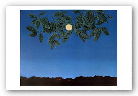 """La pagina blanche by Rene Magritte Art Print Poster """""""