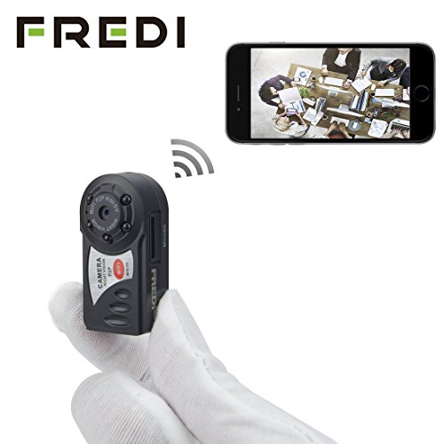 FREDI® Mini Portable P2P WiFi IP Camera Indoor/Outdoor HD DV
