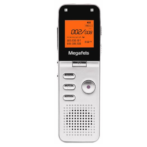 Megafeis® F20 8Gb Rechargeable Mini Digital Hd Voice Audio Recorder