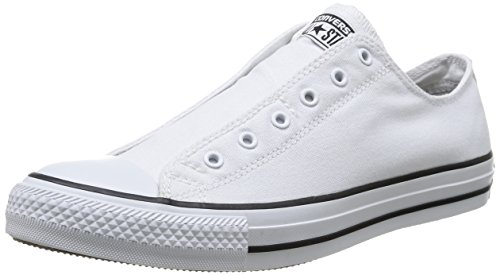 Converse, All Star Slip Canvas, Sneaker, Unisex - adulto, Bianco (Op.White/Black), 36
