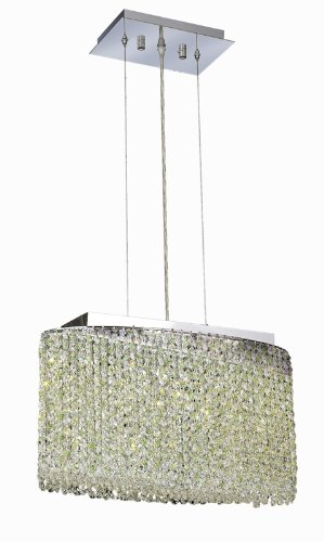 Elegant Lighting 1292D18C-LP/RC Moda 11-Inch High 3-Light Chandelier, Chrome Finish with Light Peridot (Light Green) Royal Cut RC Crystal Coupon 2016