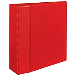 Avery Heavy-Duty Binder with 4 inch One Touch EZD Ring, Red (79584)