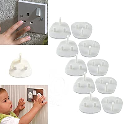 10 Baby Children Mains Socket Saftey Plug In Covers