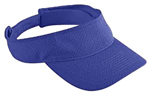 Augusta Sportswear Youth Athletic Mesh Visor, PURPLE, One Size