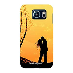 Valentine HomeSoGood Vintage Kiss Yellow 3D Mobile Case For Samsung S6 ( Back Cover)