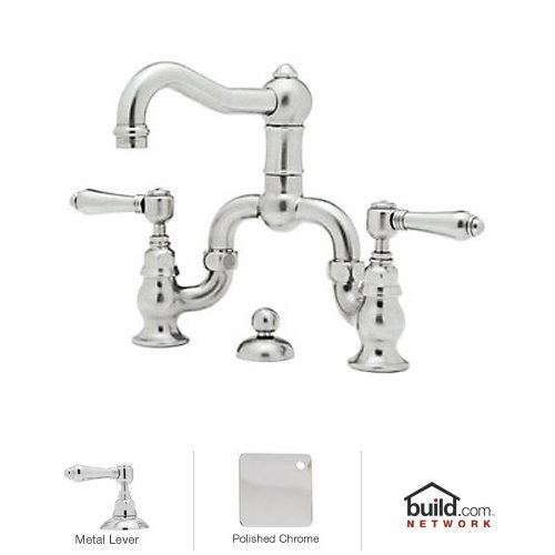 Rohl A1419LMAPC-2 Country Bath Centerset Acqui Faucet with Levers Handle, Polished Chrome
