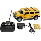 Catterpillar Remote Controlled 1:24 Hummer H2 SUV RC Scale Model Car (Yellow)