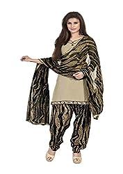 Shree Vardhman beige COTTON Unstitched Dress Material