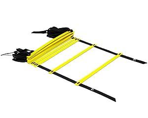 Yellow 12-Rung 15 feet Durable Agility Ladder - ²CKT4Z