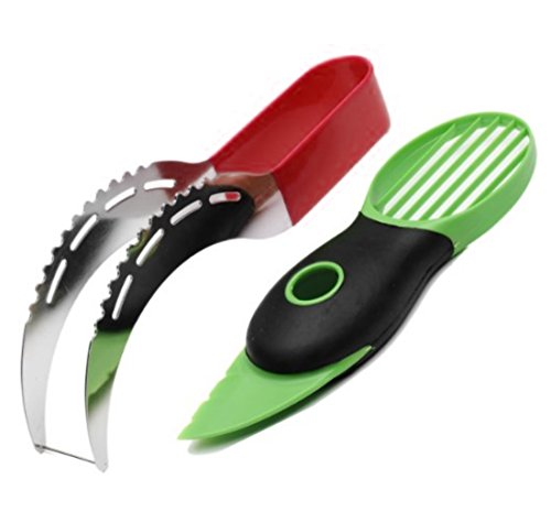 3 in 1 Watermelon Slicer and Avocado slicer set - as Seen on TV - High Quality 304 Stainless Steel Corer & Server Knife