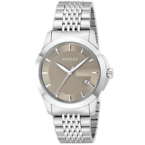 [グッチ]GUCCI 腕時計 Gタイムレス ブラウン文字盤 デイト YA126406 メンズ 【並行輸入品】