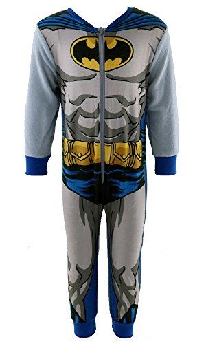 Per bambini Batman DC Comics pigiamino pigiama a tutina misure da 2a 8anni Grey 5-6 Anni
