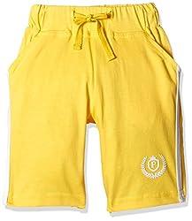 People Boys' Shorts (P30501166024512_Yellow_2-3 Yrs)