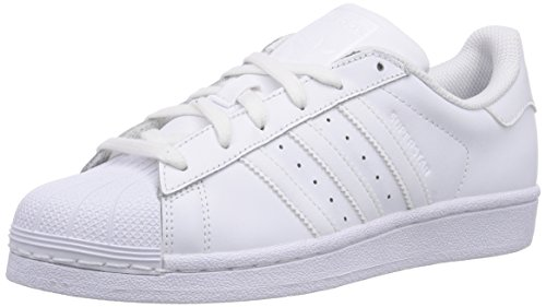 adidas Originals - Superstar Foundation, Sneakers per bimbi, Bianco (Ftwr White/Ftwr White/Ftwr White), 38.7