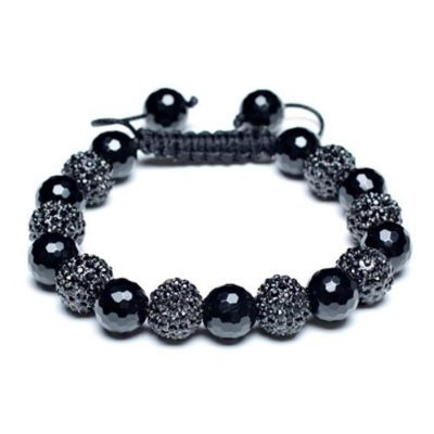 Shamballa Style Bracelets Crystal Disco Ball Friendship Beads ByThe Jewels [Black and Onyx W/O]
