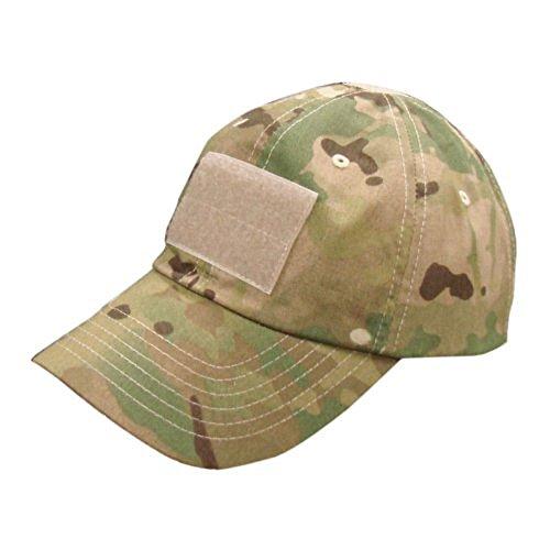 Forepin® Nuovo berretto da baseball di stile tattico militare Cappello sport esterno cappello di Sun del berretto da baseball + velcro Attacco per Flag, Nome e altri, adatto per le attività esterne in estate (CP Camo)