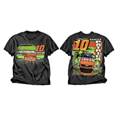 Buy Checkered Flag Danica Patrick #10 Go Daddy Zade Youth Black T-Shirt by Checkered Flag
