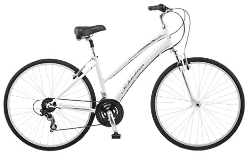 Schwinn-Network-10-700c-Womens-16-Hybrid-Bike-16-InchSmall-White