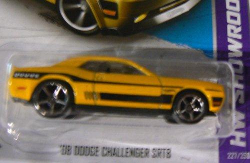 Hot Wheels Hw Showroom 227/250 '08 Dodge Challenger Srt8 Yellow With Wheel Variation