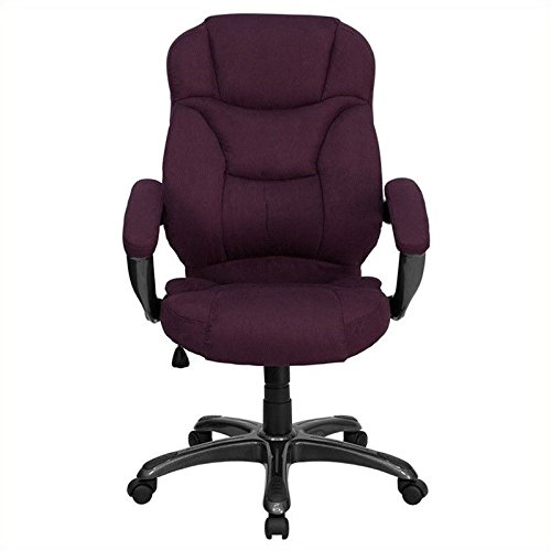 Flash Furniture GO-725-GRPE-GG High Back Grape Microfiber Upholstered Contemporary Office Chair (Flash Furniture Grape Chair compare prices)
