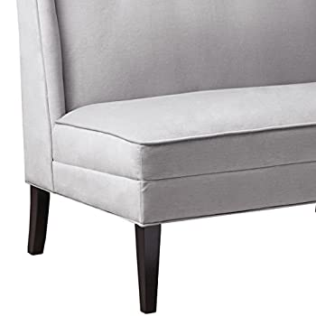 Jensen Button Tufted High Back Settee Grey See below