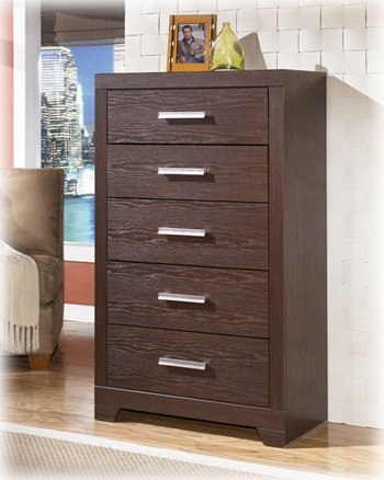 Metro Modern Brown Oak Grain Chest