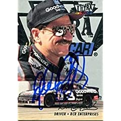 Dale Earnhardt Autographed Signed 1996 Fleer Ultra Card(JSA) - Sports Memorabilia by Sports Memorabilia