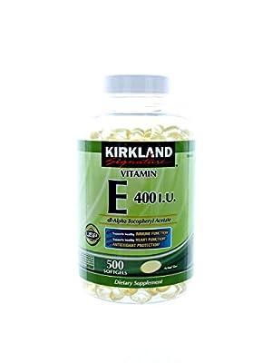 Kirkland Signature Vitamin E 400 I.U. 1500 Softgels Pack (7js6la)