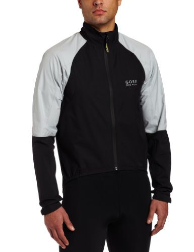 Gore Bike Wear Men's Oxygen Jacket (Black/Steel Grey/Black, Medium)