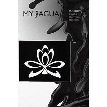 Schablone lotusblume f r henna jagua airbrush tattoos for Jagua tattoo amazon