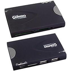 Maxpro VCR 431 Multi Card Reader and 3 Port USB Hub - Black