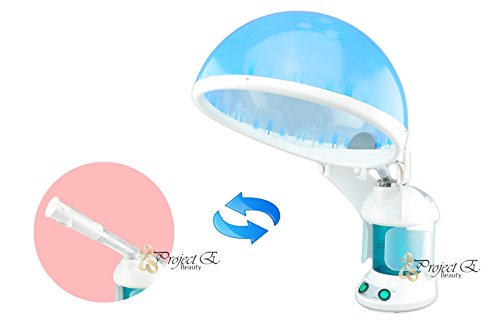 Project E Beauty Portable Personal Mini 2-1 Facial + Hair Steamer with O3 Ozone Steamer Device Home or Salon Use (Facial And Hair Steamer compare prices)