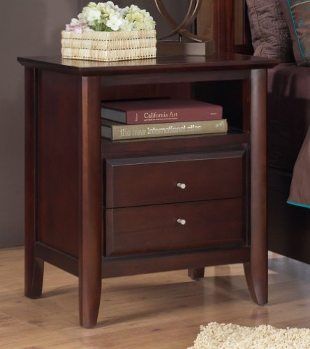 Modus Furniture 1x5081p City Ii Charging Station 2 Drawer Nightstand Coco Tables Nightstands