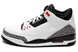 Nike Men's Air Jordan III Retro Infrared 23 Baskeball Shoe, White/Infrared/Black, 11 D(M) US