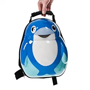 Kids Dolphin Backpack Trolley Animal Designs Luggage Childrens Travel Suitcase Case 33cm