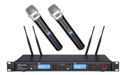 GTD Audio G-788H 2x800 Channel Diversity UHF Wireless microphone mic system