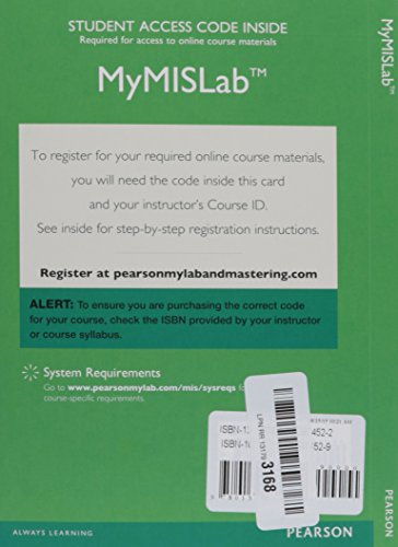 Mymislab with Pearson Etext -- Access Card -- For Management Information Systems: Managing the Digital Firm