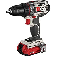 PORTER-CABLE PCC606LA 20-Volt 1/2-Inch Lithium-Ion Drill/Driver Kit (One Battery) by PORTER-CABLE