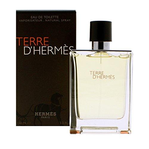 Hermes Terre d'Hermes, Eau de toilette spray per uomo, 100 ml