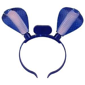 Snake Decor Red Blue LEDs Light Christmas Xmas Hairband Hair Band for Child