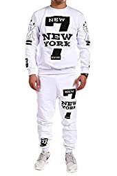 MT Styles - TR-5037 - Harlem - Tracksuit - Outfit - White - Size L
