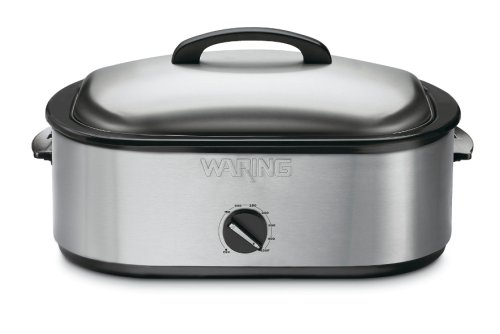 Waring Pro RO18B Professional Stainless-Steel Portable Roaster Oven