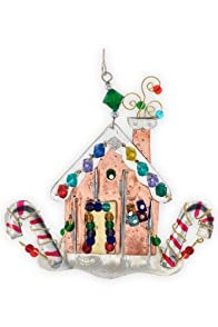 Pilgrim Imports Gingerbread House Metal Fair Trade Ornament