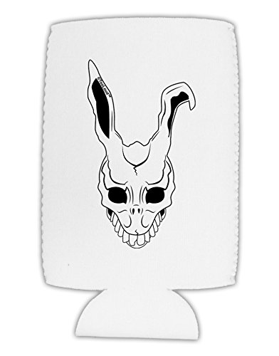 [TooLoud Scary Face Bunny White Collapsible Neoprene Tall Can Insulator] (Frank The Bunny Costume High Quality)