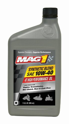 Mag 1 62971 10w 40 4t synthetic blend four stroke atv oil for 10w 40 synthetic motor oil