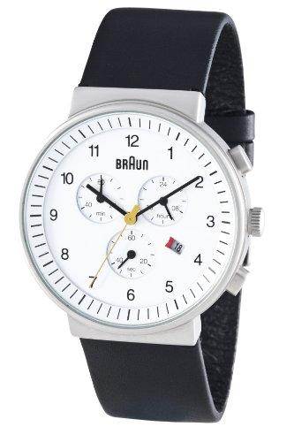 Braun Men's Quartz Chronograph Watch BN0035WHBKG With Leather Strap