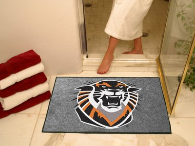 NCAA Fort Hayes State Chromo Jet Printed Rectangular Area Rug Floor Mat 45